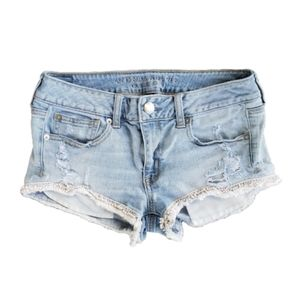 American Eagle Shorts 6 AEO Shortie Distressed Fra